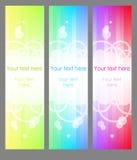Bandera de tres verticales Imagen de archivo libre de regalías