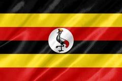 Bandera de Uganda imagen de archivo
