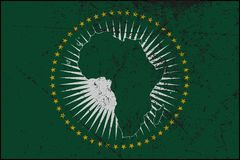 Bandera de unión africana Grunged libre illustration