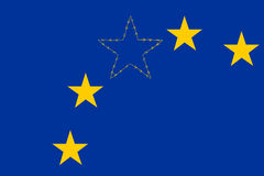 Bandera de unión de Europa fotografía de archivo libre de regalías