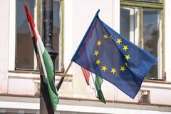 Bandera de unión europea Imagen de archivo libre de regalías
