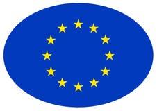Bandera de unión europea - el Consejo de Europa ilustración del vector