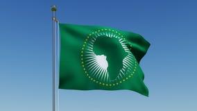Bandera de unión africana contra el cielo azul Fotografía de archivo libre de regalías