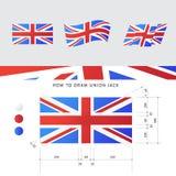 Bandera de Union Jack del vector Fotografía de archivo