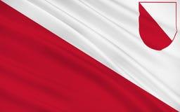 Bandera de Utrecht, Países Bajos Foto de archivo libre de regalías