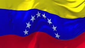 Bandera de Venezuela que agita en fondo inconsútil continuo del lazo del viento ilustración del vector