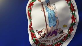 Bandera de Virginia que agita en el viento Sol de colocación libre illustration