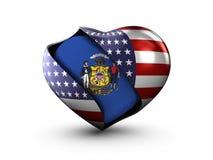 Bandera de Wisconsin del estado de los E.E.U.U. en el fondo blanco stock de ilustración