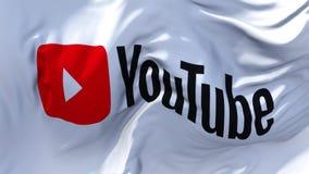 Bandera de YouTube que agita en fondo inconsútil continuo del lazo del viento libre illustration