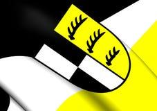 Bandera de Zollernalbkreis, Alemania Imagen de archivo libre de regalías