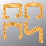 Bandera decorativa de la cinta del color. Vector. Fotografía de archivo libre de regalías