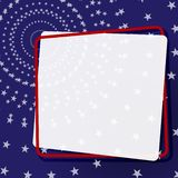 Bandera decorativa en un marco en un fondo un modelo del elemento de las estrellas para el diseño de banderas de los carteles de  libre illustration