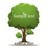 Bandera del árbol stock de ilustración