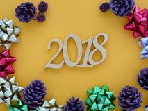 Bandera 2018 del Año Nuevo Imagen de archivo libre de regalías