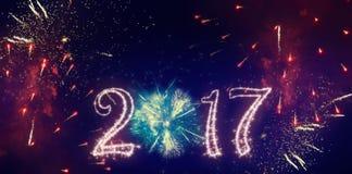 Bandera del Año Nuevo Imagenes de archivo