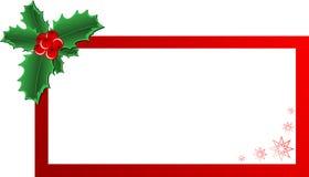 Bandera del acebo de la Navidad