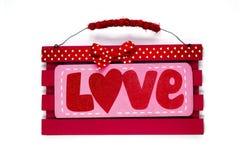 Bandera del amor Imagen de archivo libre de regalías