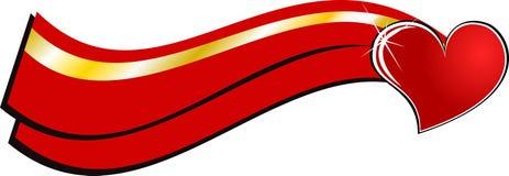 Bandera del amor Stock de ilustración