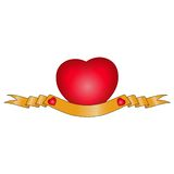 Bandera del aniversario del corazón Fotos de archivo