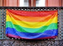 Bandera del arco iris fotografía de archivo libre de regalías