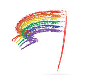 Bandera del arco iris ilustración del vector