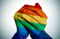 Bandera del arco iris Foto de archivo libre de regalías