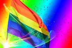Bandera del arco iris Fotos de archivo