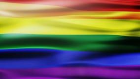 Bandera del arco iris, bandera del orgullo, bandera del orgullo de LGBT o bandera del orgullo gay stock de ilustración