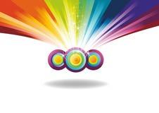 Bandera del arco iris con las chispas Foto de archivo libre de regalías