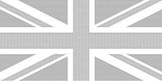 Bandera del arte del ASCII del Reino Unido Reino Unido aka Union Jack Imagen de archivo libre de regalías