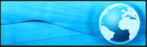 Bandera del asunto y de la tecnología, cabecera Imágenes de archivo libres de regalías