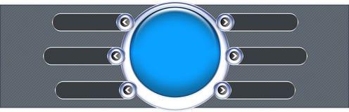 Bandera del asunto y de la tecnología, cabecera Fotos de archivo libres de regalías