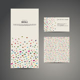 Bandera del aviador del folleto del negocio, tarjeta de visita y tarjeta con la costura libre illustration