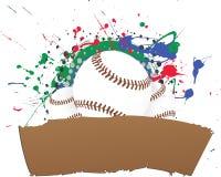 Bandera del béisbol de Grunge del vector libre illustration