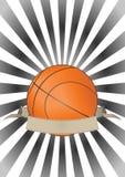 Bandera del baloncesto Imagen de archivo libre de regalías