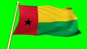 Bandera del bissua de Guinea, África almacen de metraje de vídeo