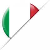 Bandera del bolsillo de Italia Fotos de archivo