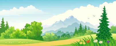 Bandera del bosque stock de ilustración