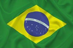 Bandera del Brasil Imágenes de archivo libres de regalías