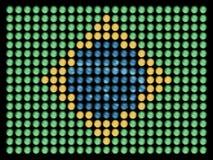 Bandera del Brasil en bulbos llevados Fotos de archivo