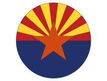 Bandera del círculo del estado de los E.E.U.U. de Arizona stock de ilustración