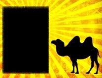 Bandera del camello stock de ilustración