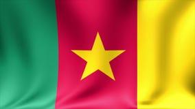 Bandera del Camerún Animación de colocación inconsútil del fondo alto vídeo de la definición 4K ilustración del vector