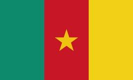 Bandera del Camerún en colores y la proporción oficiales correctamente Fotos de archivo libres de regalías