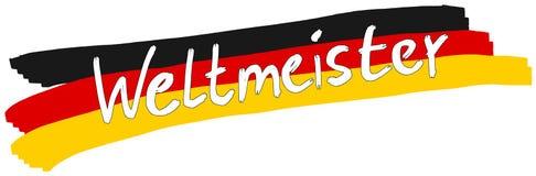 Bandera del campeón del mundo (Alemania) Fotos de archivo libres de regalías