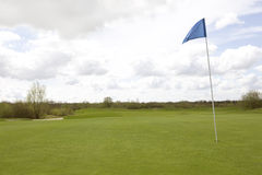 Bandera del campo de golf Imagen de archivo