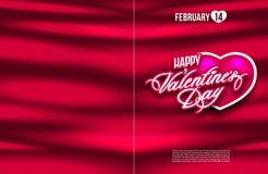 bandera del cartel del aviador de la postal del día de la tarjeta del día de San Valentín s del santo Imagenes de archivo