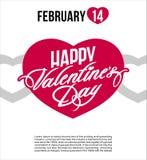 bandera del cartel del aviador de la postal del día de la tarjeta del día de San Valentín s del santo Fotos de archivo