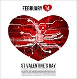 bandera del cartel del aviador de la postal del día de la tarjeta del día de San Valentín s del santo Foto de archivo libre de regalías