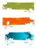 Bandera del chapoteo Foto de archivo libre de regalías